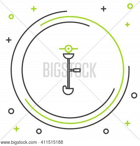 Line Grass And Weed Electric String Trimmer Icon Isolated On White Background. Grass Clipper, Lawn M