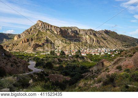 Landscape View Of Villanueva Del Rio Segura In The Valley Of Ricote, Murcia Region In Spain
