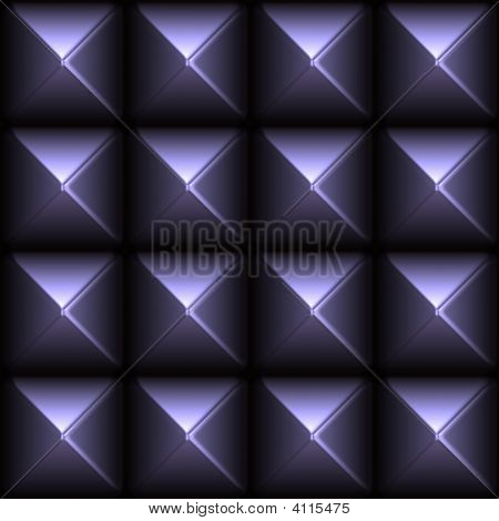 Futuristic Sleek Metal Stud Grid Abstract Background poster