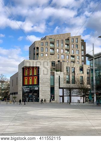 Southampton, UK - 5th March 2021: The John Hansard Gallery. A visual art centre for modern and contemporary works. Part of the cutural development of the city and the University of Southampton faculty
