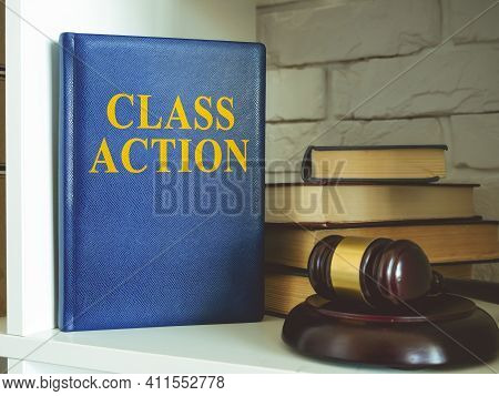 Book About Class Action Lawsuit On The Shelf.