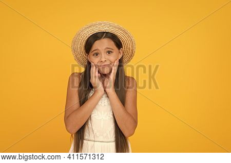 Kid Summer Fashion. Ready For Beach Party. Holiday Mood. Small Girl On Vacation. Rancho Child In Str