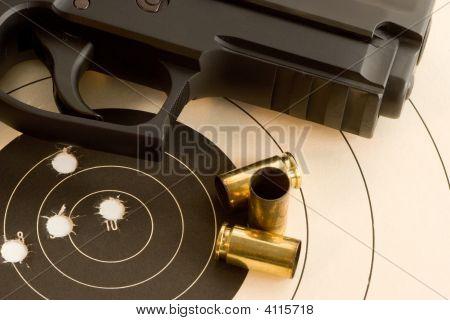Bullseye Target And Gun
