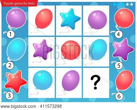What Item Are Missing? Color Balloons. Logic Puzzle Game For Kids. Education Game For Children. Sudo