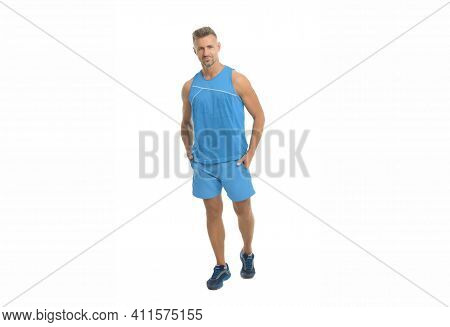 Mature But Still Young. Guy Sport Outfit. Fashion Concept. Man Model Clothes Shop. Sport Style. Mens