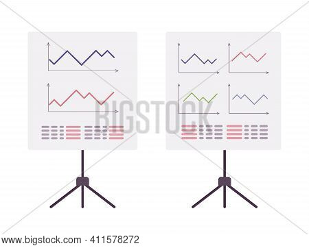 Stand White Board With Graph, Diagram, Tripod For Office, Classroom. Teaching, Meeting Or Business T