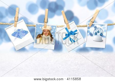 Winter Christmas Holiday Related Pictures On Hanging Film Blanks