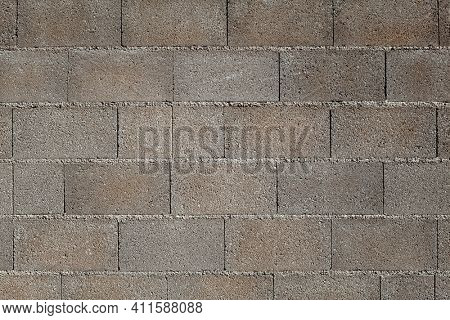 Wall made of concrete blocks background
