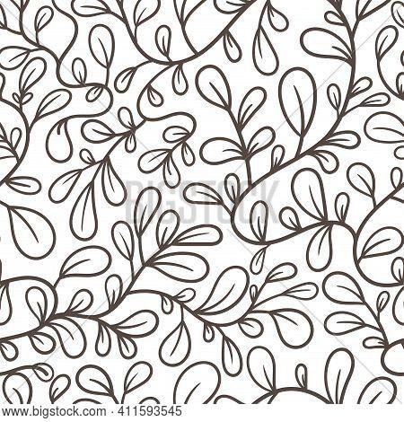 Branch; Plants; Grass; Stem; Pattern; Seamless; Background; Wallpaper; Textiles; Endless; Repeat; Pr