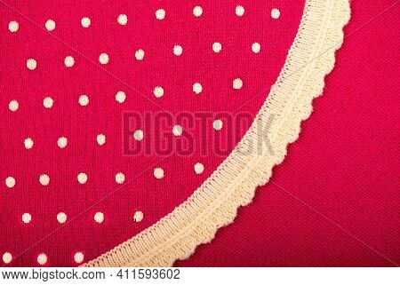 Pink Polka Dot Fabric For Polka Dots On Light Pink Background