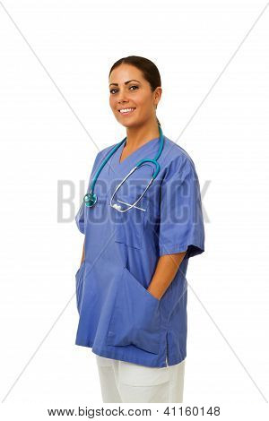 Smiling Doctor With Hands In Pockets