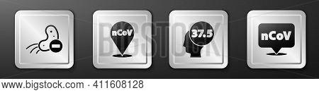 Set Negative Virus, Corona Virus 2019-ncov On Location, High Human Body Temperature And Corona Virus
