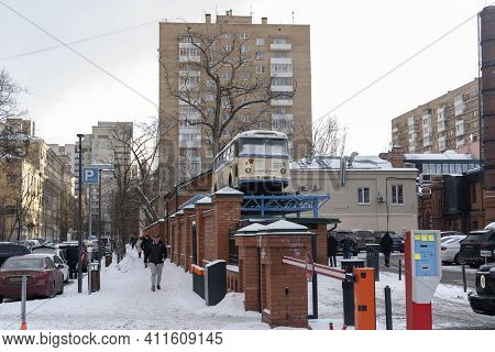 Moscow, Russia-march 07, 2021: Food Depot In Moscow, Trendy Restaurants In One Place, A Large Select