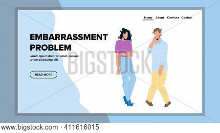 Embarrassment Problem For Communication Vector Flat Illustration