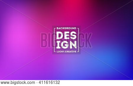 Abstract Blurred Gradient Mesh Background In Bright Modern Purple Pink Colors. Colorful Smooth Banne