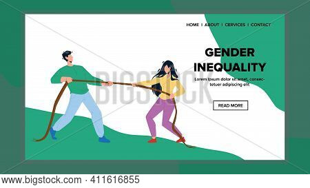 Gender Inequality And Versus Competition Vector Illustration