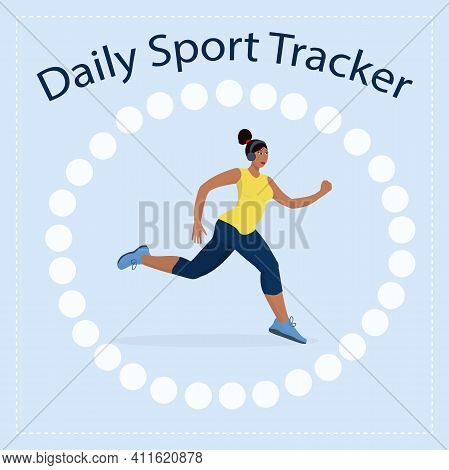 A Habit Tracker For Daily Sports And Jogging. 30 Day Challenge, A Healthy Lifestyle Concept