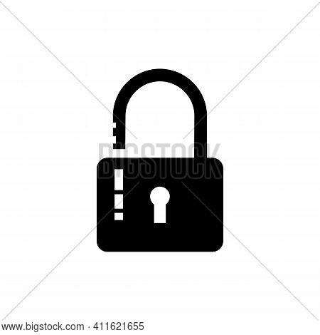 Lock Icon Illustration On White Background. Lock Vector. Lock Icon. Lock Sign. Lock Symbol. Lock Vec