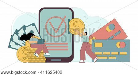 Cashless Payment Transactions. Online Financial Transactions. Payment System Nfc. Money Transfers. V
