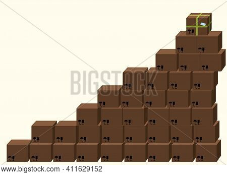 Parcels, Stacked, Storehouse, Warehouse, Special, One, Many, Ordinary, Not Like Everyone Else, Diffe