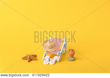 Concept Photo About Nice Vacation At The Sea.