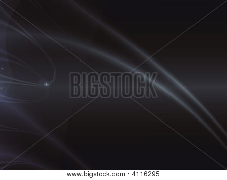 Abstract Black Background With Light Lines