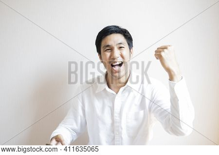 Asian Man Portrait Confident Teen Studen Lifestyle People For Business Insurance, Salesman, Finance,