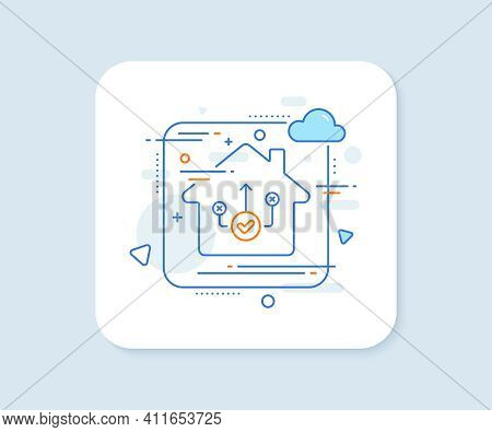Correct Way Line Icon. Abstract Vector Button. Approved Path Sign. Right Decision Symbol. Correct Wa