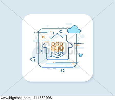 Best Buyers Line Icon. Abstract Vector Button. Customers Group Sign. Care Of Clients Symbol. Best Bu