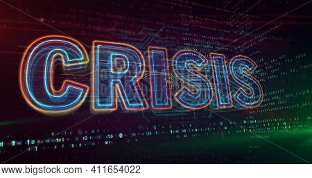 Crisis Abstract Concept 3D Illustration