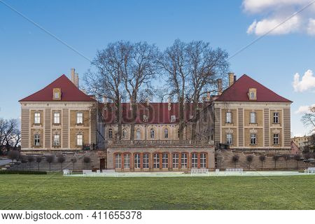 The Historic Building Of The Prince\'s Palace In The City Of Zagan In Western Poland. The Body Of Th