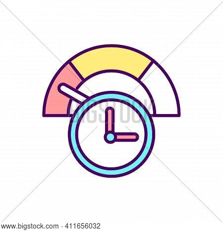 Job Loss And Reduction In Hours Rgb Color Icon. Business And Affected Workers. Development Of Unempl