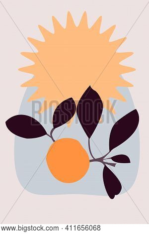 Abstract Juicy Tangerine Pattern Background. Cute Design For Nursery Wall Decor, T Shirt Print, Summ