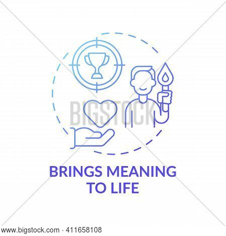 Brings Meaning To Life Blue Gradient Concept Icon. Search For Purpose. Personal Potential. Religious