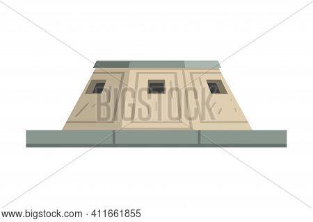 Military Observation Bunker As Defensive Fortification Vector Illustration