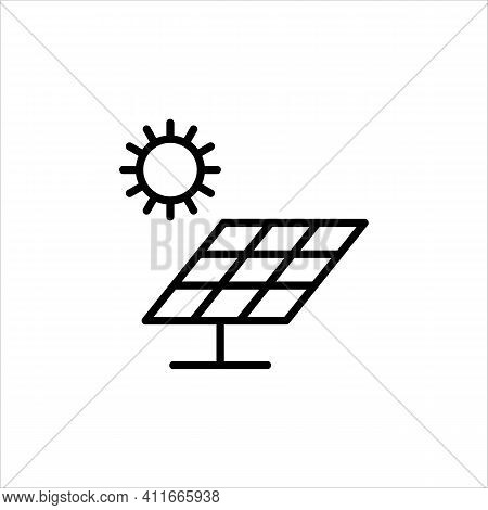 Energy Of Sun. Environmentally Friendly Form Of Energy. An Economical Source Of Energy. Emitted Sunl