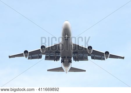 Istanbul, Turkey - January 31, 2021: Act Airlines Boeing 747-428fer (cn 32867) Landing To Istanbul A