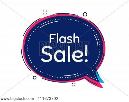 Flash Sale. Thought Bubble Vector Banner. Special Offer Price Sign. Advertising Discounts Symbol. Di