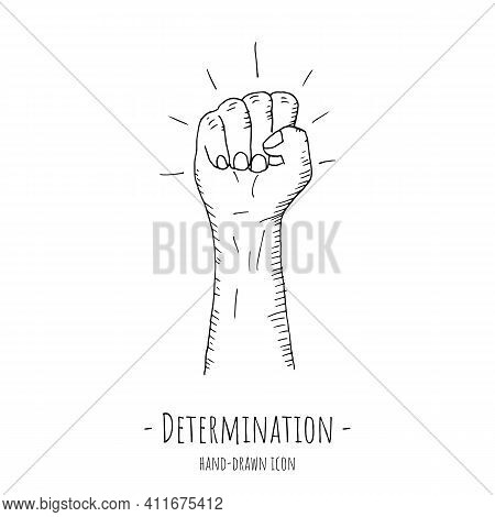 Determination Icon. Vector Illustration. Isolated On White.