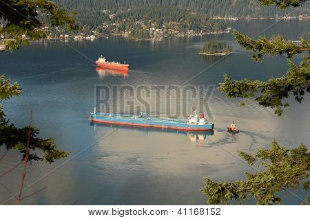 Burrard Inlet Oil Tankers, Vancouver
