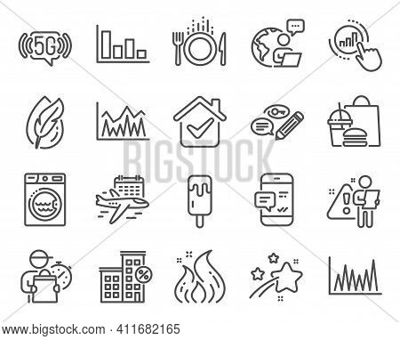 Business Icons Set. Included Icon As Hypoallergenic Tested, Laundry, Keywords Signs. 5g Wifi, Invest
