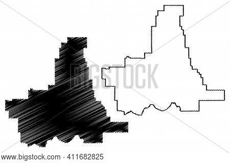 Union County, Oregon State (u.s. County, United States Of America, Usa, U.s., Us) Map Vector Illustr