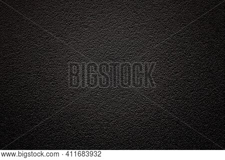 Dark Background With Fine Texture And Vignetting With Emphasis On The Center. An Empty Flat And Clea