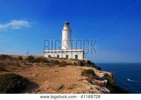 Formentera La Mola lighthouse near Ibiza at Balearic islands
