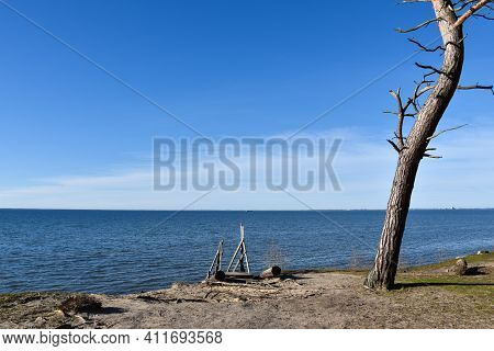 Coastal View At The Baltic Sea By Sandbergen On The Island Of Oland In Sweden