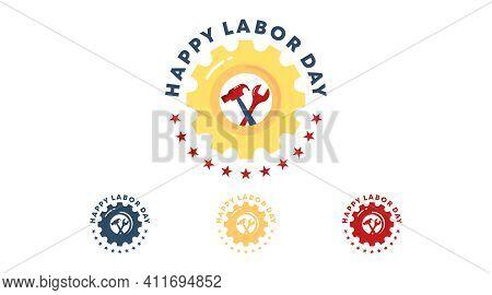 Happy International Labor Day Badge Vector.