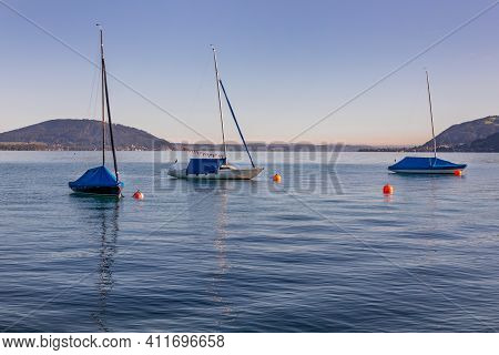 Attersee - Lake In Upper Austria During Summer Morning