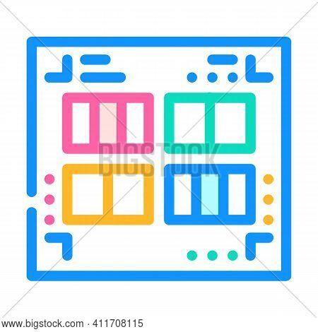 Prefabricated Printing Catalogs Color Icon Vector Illustration