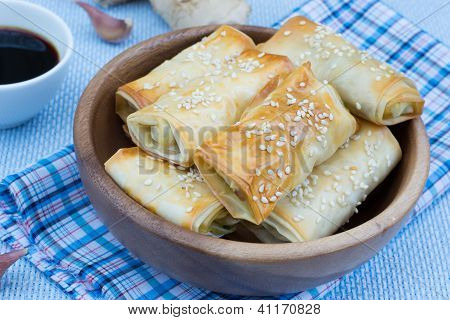 Baked Rolls With Sesame