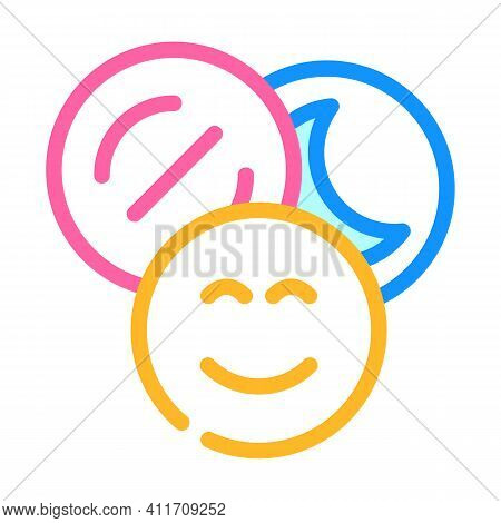 Narcotic Drugs Color Icon Vector Illustration Line